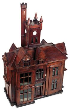 Purple Skies, Plum Delights : 78 19th Century Wooden English Doll House with Clock Tower