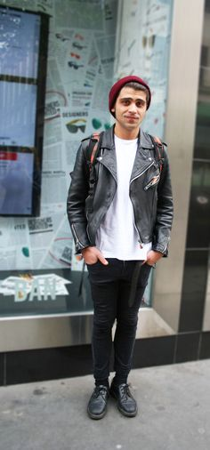 Basic Biker's Grunge #london #fashion #menswear #streetstyle #leather #skinnyjeans