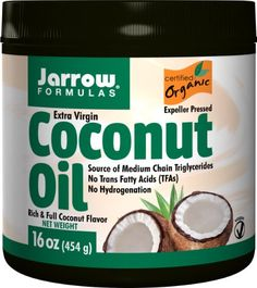 Jarrow Formulas Extra Virgin Organic Coconut Oil from the fresh flesh of the coconut palm fruit, (Cocos nucifera) is unrefined and cold-pressed in a controlled, indoor environment. Coconut Oil For Lips, Organic Coconut Oil, Organic Oil, Extra Virgin Oil, Extra Virgin Coconut Oil, Cooking With Coconut Oil, Benefits Of Coconut Oil, Nutrition Information, The Fresh