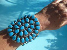 Turquoise Cuff Bracelet by Navajo Artist Wilson Begay Jr.