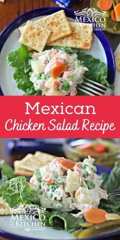 Traditional Chicken Salad - Ensalada de Pollo is a classic childhood favorite. A long-time favorite among Mexicans for family reunions, children's parties, picnics, and even beach days. #chickensalad #mexicanfood.