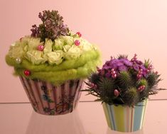 cupcake flower arrangement - Google Search