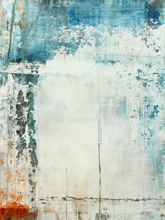 CHRISTIAN HETZEL - love this distressed effect - mostly white/light with color breaking up around the sides and top Contemporary Abstract Art, Abstract Landscape, Modern Art, Art Abstrait, Love Art, Abstract Expressionism, Painting Inspiration, Art Photography, Art Prints