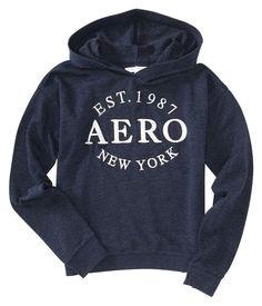SALE!! Womens Ladies Aero Aeropostale Navy BLUE New York Popover Hoodie SHIRT M #Aropostale #Hoodie