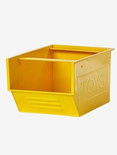 """Hübsche Metall-Aufbewahrungsbox in tollen Farben. Die offene Box mit Glanzeffekt bietet Platz für Spielzeug, Kuscheltiere, Krimskrams oder kleine Schätze. Die Aufbewahrungsbox für Spielzeug weist seitlich den Schriftzug """"Toys"""" auf, lässt sich stapeln und bunt kombinieren.  Produktdetails:Metallbox: Metall  Glanzeffekt. 20 x 35 x 25 cm (H x L x B). """"Toys""""-Motiv. Uni. Hinweis: Lieferung ohne Spielzeug oder Deko.;"""