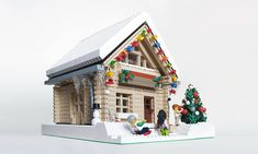 Thanks to everyone who entered the sixth annual Expand the Winter Village Contest. Once again, it has been inspiring to see the additions to the winter . Lego Christmas Village, Lego Winter Village, Lego Village, Noel Christmas, Christian Christmas, Lego Gingerbread House, Casa Lego, Construction Lego, Lego Activities