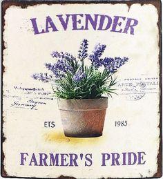 Decoupage Vintage, Vintage Diy, Vintage Labels, Vintage Images, Lavender Cottage, Lavender Fields, Lavender Flowers, Lavander, Stencil