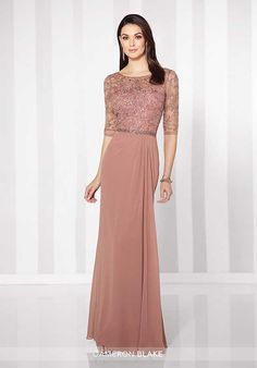 Cameron Blake 216684 Gray Mother Of The Bride Dress