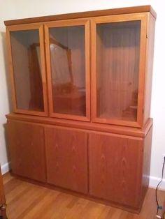 Danish Teak China Cabinet in Antiques, Furniture, Cabinets & Cupboards, Post-1950 | eBay