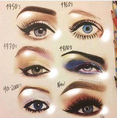 Makeup Evolution❤️ Which year do you choose? Beaty and stile 1950 Makeup, Pin Up Makeup, Makeup Is Life, Crazy Makeup, Makeup Art, Eye Makeup, Vintage Makeup, Fairy Makeup, Mermaid Makeup
