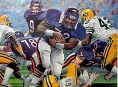 1985 Bears vs. Packers Fridge touchdown by Merv Corning