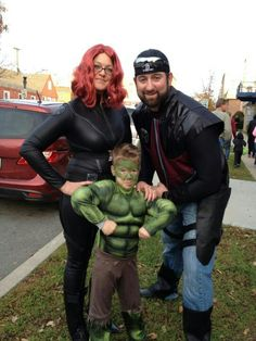 Avengers!! Family Halloween costumes