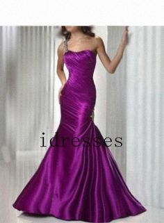 Charm Fuchsia Long Ball Gown FRONT