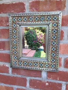 :D❤️Punched tin talavera tile mirror