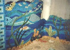 for the kids bathroom: under the sea theme mosaic tile shower