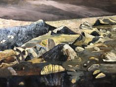 Judy Cassab, Austria/Australia (b.1920, arr.1950, d.2015) • Moonlit River Bed 1984 • Oil on canvas • Donated through the Australia Governments Cultural Gifts program by Judy Cassab • 2011.042 #JudyCassab #AustralianPainting Australian Painting, Asian Art, Moonlight, Metal Working, Oil On Canvas, Contemporary Art, Culture, River, Gallery