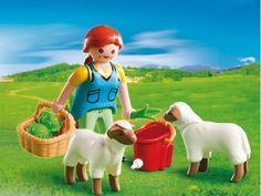 PLAYMOBIL 4765 Special: Bäuerin bei Schäfchen-Fütterung