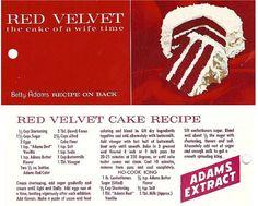 Adam's Extract Red Velvet Cake Recipe