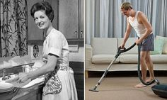 Housework is STILL a woman's job as survey revealed just one in 10 men do more | Daily Mail Online