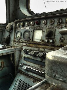Abandoned Train Depot - Inside Train by Off-Limits, via Flickr: