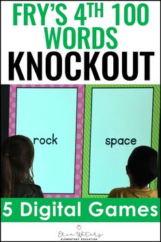 This Fry 4th 100 Knockout game is a fun & engaging review for first & second graders. Keep all of your class engaged in this review that is great for learning about sight words. This quick-paced game also builds character by emphasizing teamwork and good sportsmanship for 1st and 2nd grade students. The download includes all 100 Words from Fry's 4th 100 Words presented in 5 Knockout games. Grab a free sample to make sure that this will be the perfect fit for your classroom review. #FrySightWords Word Family Activities, First Grade Activities, Phonics Activities, Reading Comprehension Activities, Reading Passages, Sight Word Games, Classroom Games, 100 Words, Word Families