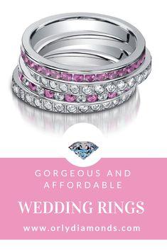 Diamond Band and pink sapphire and diamonds band at Orly Diamonds
