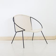 """A new take on the classic Hoop Chair. The Hoop Chair concept has been  around for decades and has been interpreted by many different designers.  This style of chair has always been one of our all time favorites and we're  excited to offer my own unique interpretation made with welded steel and  hand woven with natural cotton cording.  Each chair is made to order and lead time is approximately 3 weeks but can  take up to 4.  Dimensions: The Hoop Itself: 30"""" in diameter The Seat: 21"""" wide x…"""