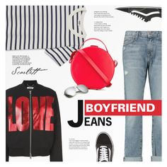 """Borrowed from the Boys: Boyfriend Jeans"" by redflowergirl ❤ liked on Polyvore featuring Current/Elliott, Vans, Givenchy, Nico Giani and boyfriendjeans"