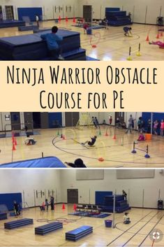 PE Teacher Justin Wiese shares his Ninja Warrior obstacle course activity that he teaches to grade students at Hopewell Elementary School in the Pleasant Valley Community School District. Every year since our school opened 6 years ago, we borrow … Read Physical Education Activities, Elementary Physical Education, Health And Physical Education, Motor Activities, Science Education, Obstical Course Ideas, Obstical Course For Kids, Pe Games Elementary, Elementary Schools