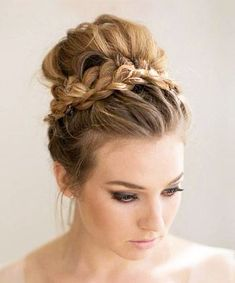 You can put away that veil, because youre going to want everyone to see your seriously stunning wedding day hair