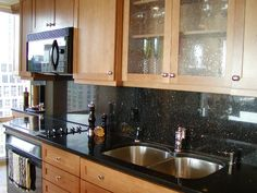 Kitchen Backsplash For Black Countertop the texas trailer transformation - mobile and manufactured home