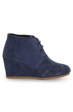 339a9764233 Gifts under  100  TOMS Navy Suede Snake women s Desert Wedges. Our most  popular wedge