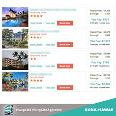How about KONA, HAWAII? Here are some WEEK LONG STAYS in Paradise. 2-3-4-5 Stars? We got 'em! http://www.travelwithkeith.com