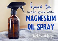 Make a simple magnesium oil spray with only two ingredients! This skin soothing and relaxing spray helps increase magnesium levels transdermally. Cleaning Supplies, Calendula Benefits, Matcha Benefits, Health Tips, Health Benefits, Insect Bites, Jewels, Light Bulb, Cancer