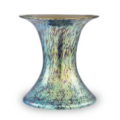 "US $5,719.This vase stands out due to its intense, blue colours and the very elegant, iridescent and ruby-red undercoating. The combination of these two elements lends this vase an amazing look and appearance. The rare signature in the shape of a circle over two crossed arrows with four stars and the addition of ""Austria"" combined with a strictly reduced shape make this vase a highly asked for collectors object."