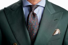 Michael Alzona, manager and bespoke advisor at Wingtip, is seen wearing a jacket and shirt by Wingtip, Christian Dior tie, and Peter Millar pocket square.