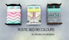 RUSTIC BED RECOLOURS at DreamCatcherSims4 • Sims 4 Updates