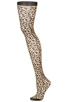Natural Sheer Leopard Tights - Tights - Tights & Socks  - Bags & Accessories this would be cute with shorts for fall