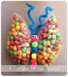 """A Little June Fun! Super cute food craft from A Cupcake for the Teacher blog.  Would be great to use with """"The Very Hungry Caterpillar"""" book!"""
