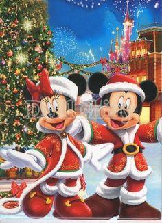 Diamond Painting Merry Christmas Minnie and Mickey Kit Mickey Mouse Stickers, Mickey Mouse Wallpaper, Mickey Mouse And Friends, Mickey Minnie Mouse, Disney Wallpaper, Mickey Mouse Cartoon, Walt Disney, Disney Fun, Disney Magic