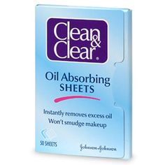 Clean and Clear oil absorbing sheets. I am obsessed. I keep a pack at ea855ab363533