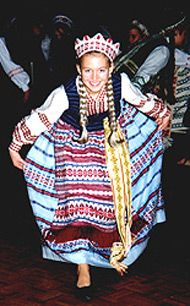 Lithuanian Girl  --  I had to wear that for Lithuanian Choir Recitals....