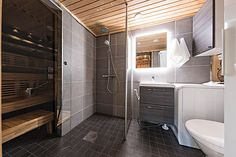 UnelmaPovi, Ruka, Mökki, pesuohuone ja saunaosasto Bathtub, Bathroom, Standing Bath, Washroom, Bathtubs, Bath Tube, Full Bath, Bath, Bathrooms