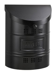 Galvanized Steel Wall Mounted Modern Mailbox with Black Finish