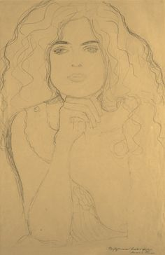 "kafkasapartment: ""Bildnis Einer Frau (Portrait of a Woman) c.1916. Gustav Klimt. Pencil on paper """