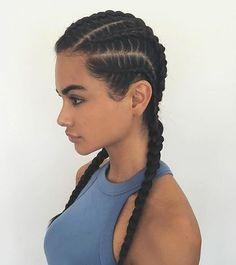 Las que muchos llamamos stylo kardashan  boxeadora . bueno aquí esplendida algo deportiva o casual #trenzas_nanii #hairstyle        Trend Trendy Hair Hairstyles Makeup Beauty