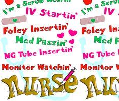 Nurse Humor fabric by hot4tees_bg@yahoo_com on Spoonflower - custom fabric