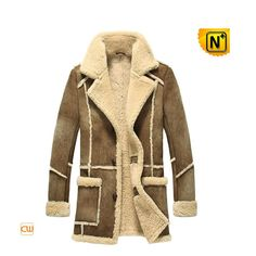 Mens Vintage Mustard Brown Faux Sheepskin Coat . Lumberjack . Soft