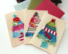 scrap fabric greeting cards - Google Search