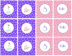 Ice Skating Party Cupcake Toppers  Purple by TrishsDesignStudio
